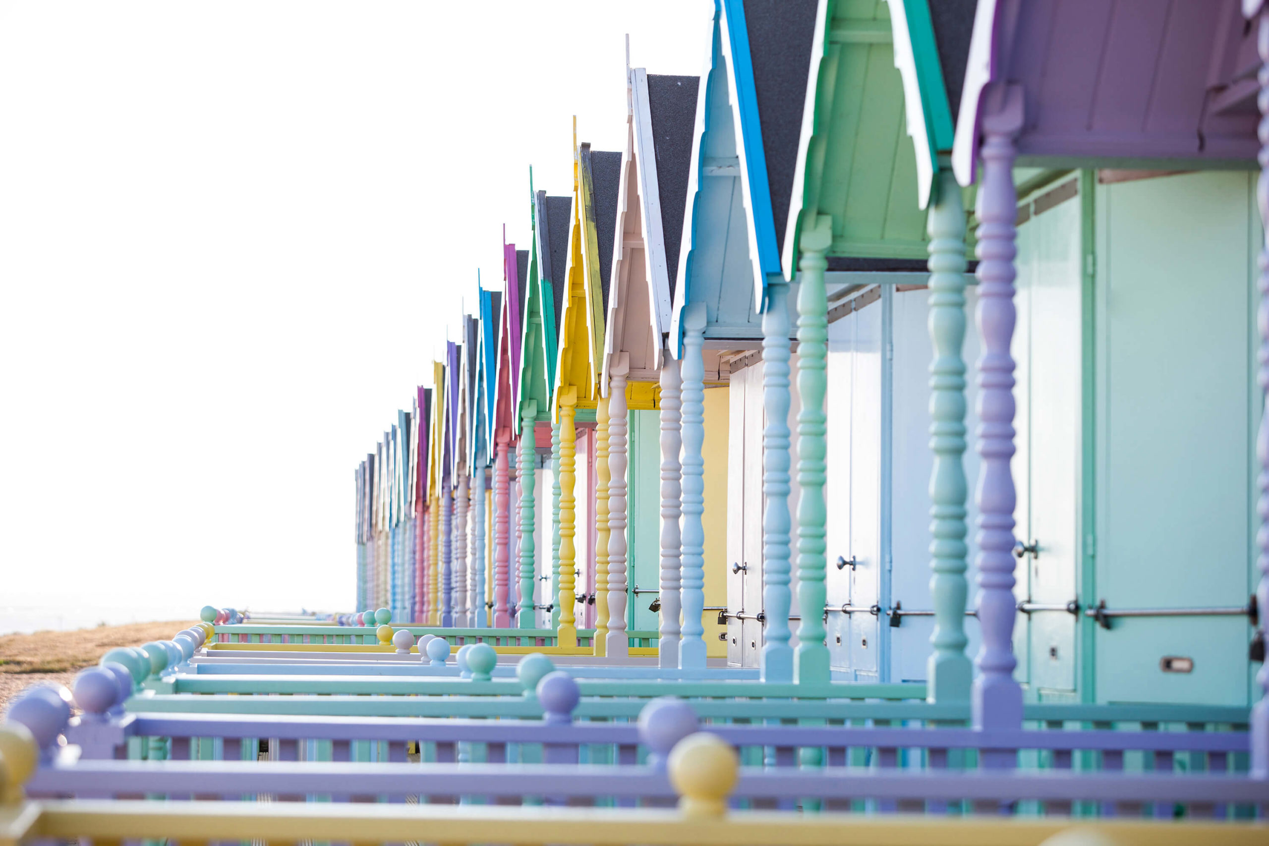 Mersea Island beachhuts for Think BDW agency