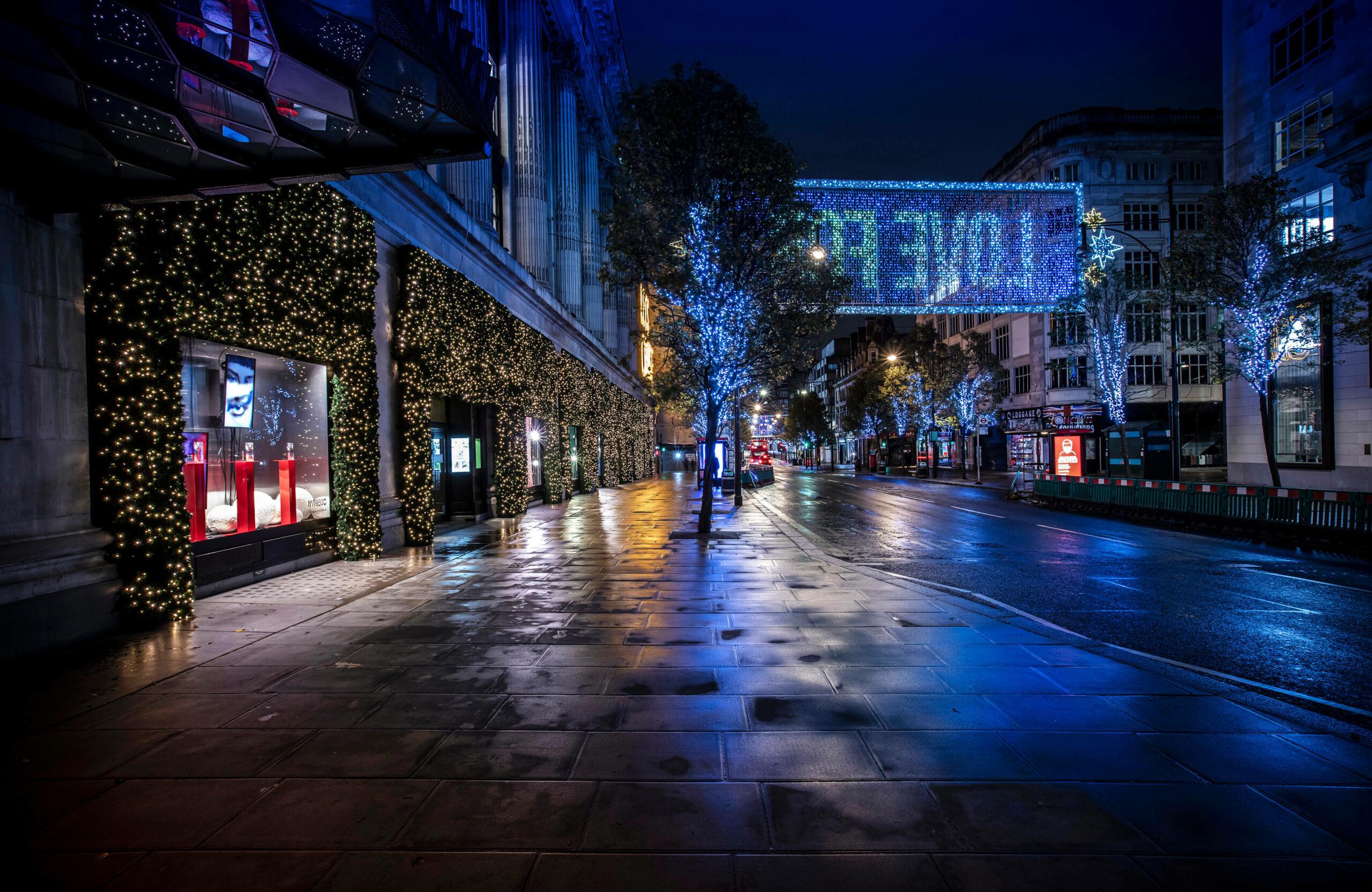 An empty Oxford Street