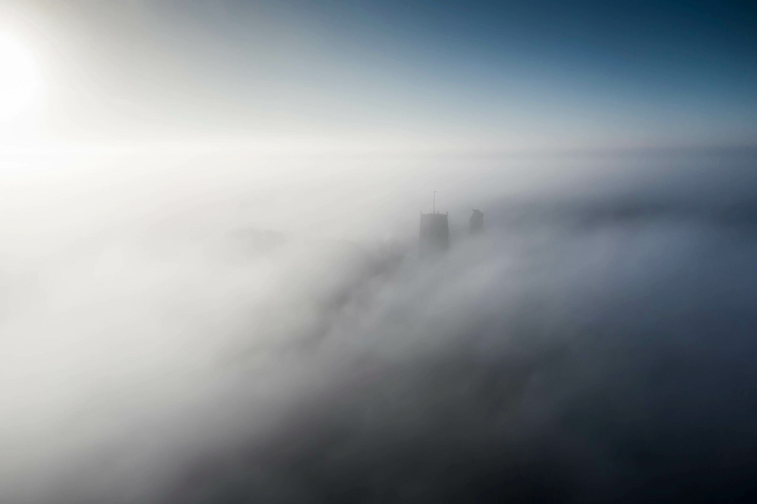 Cloud inversion at St Michael's Church, Framlingham