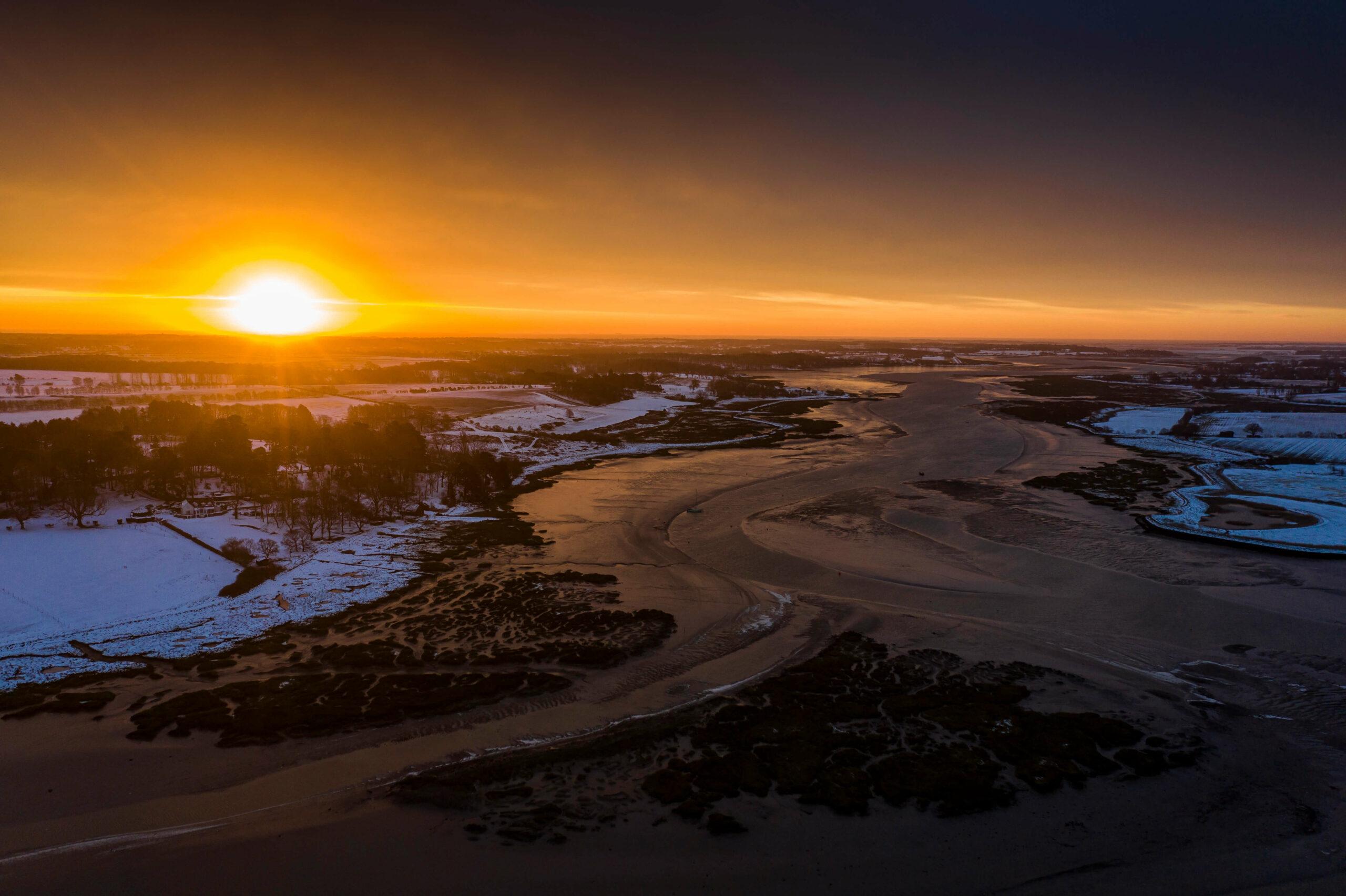 Suffolk winter sunrise