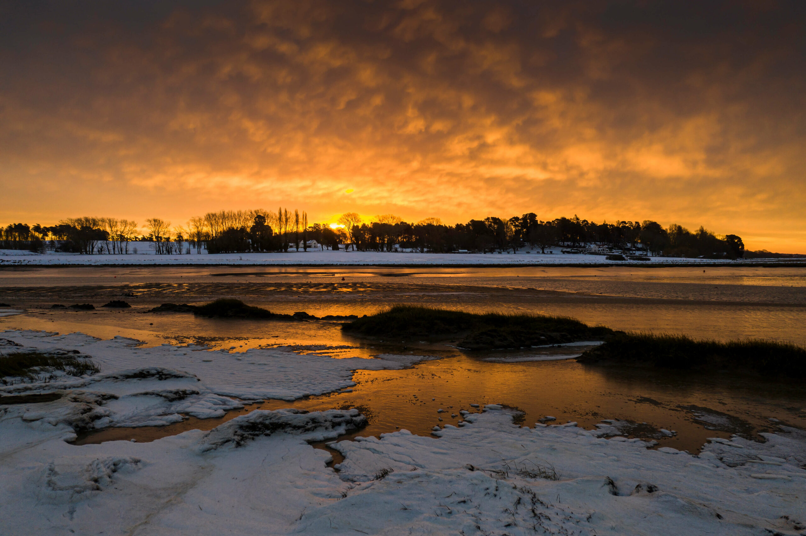 Kyson Point sunrise on the River Deben