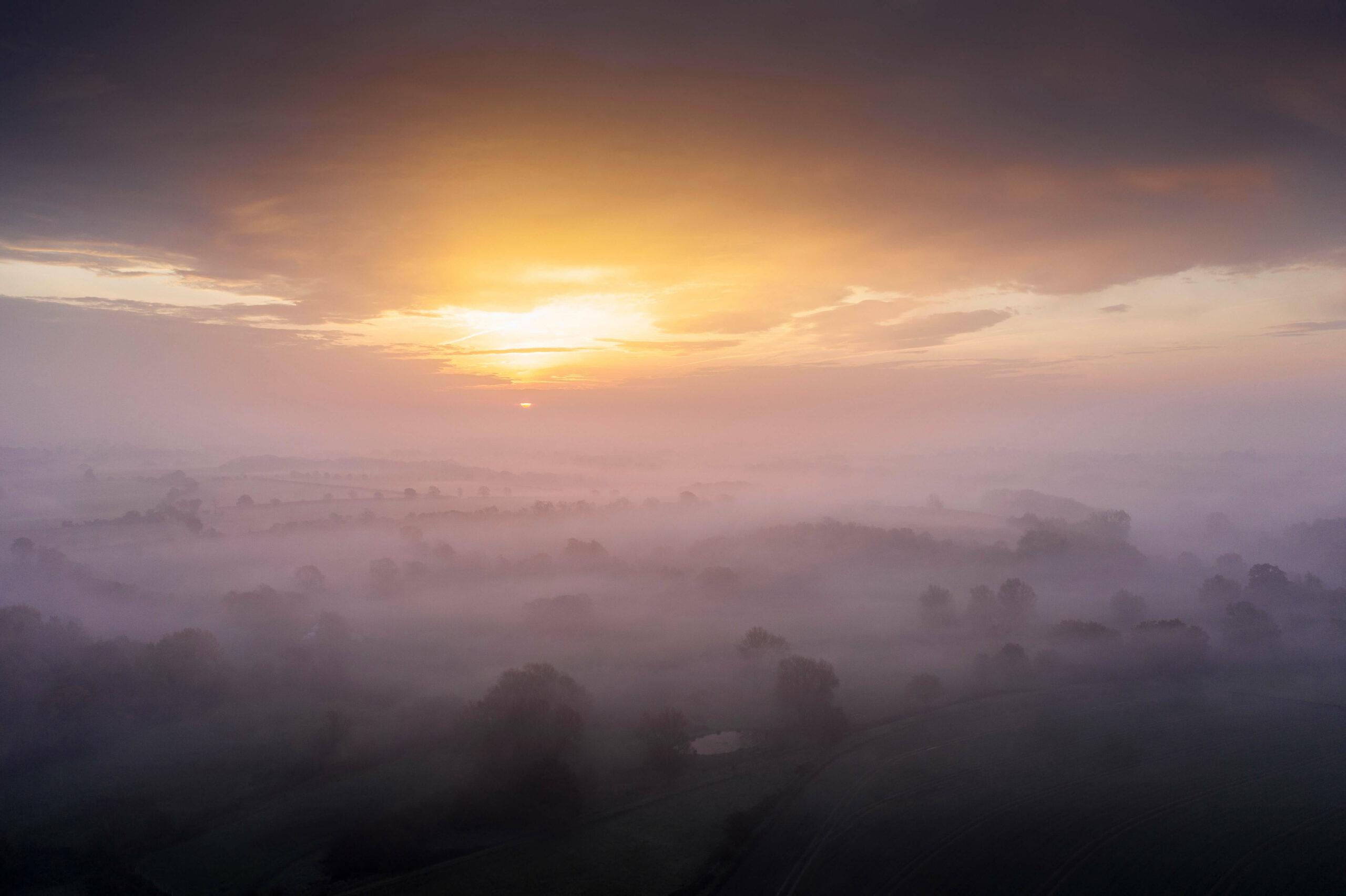 Sunrise over the Fynn Valley, Suffolk
