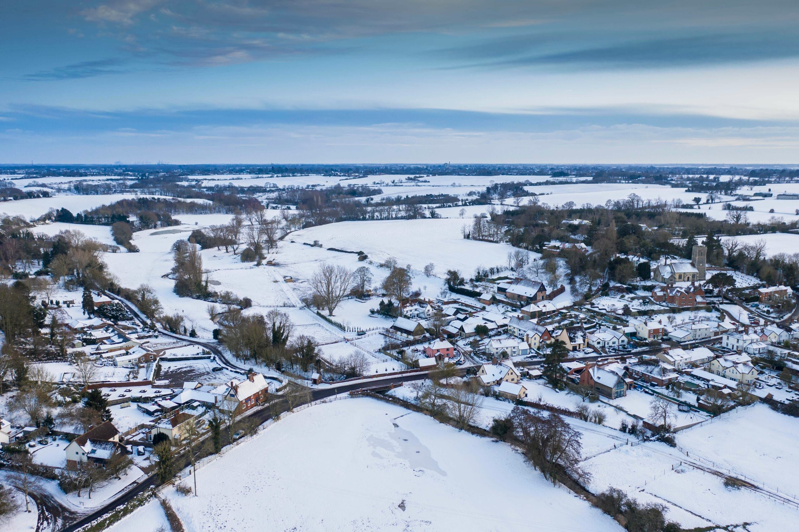 Winter over Tuddenham in the Fynn Valley