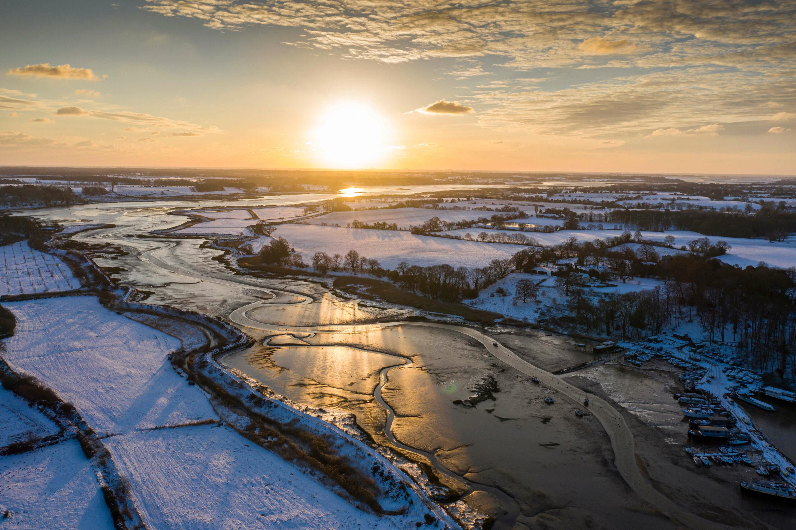 Winter sunrise over the River Deben