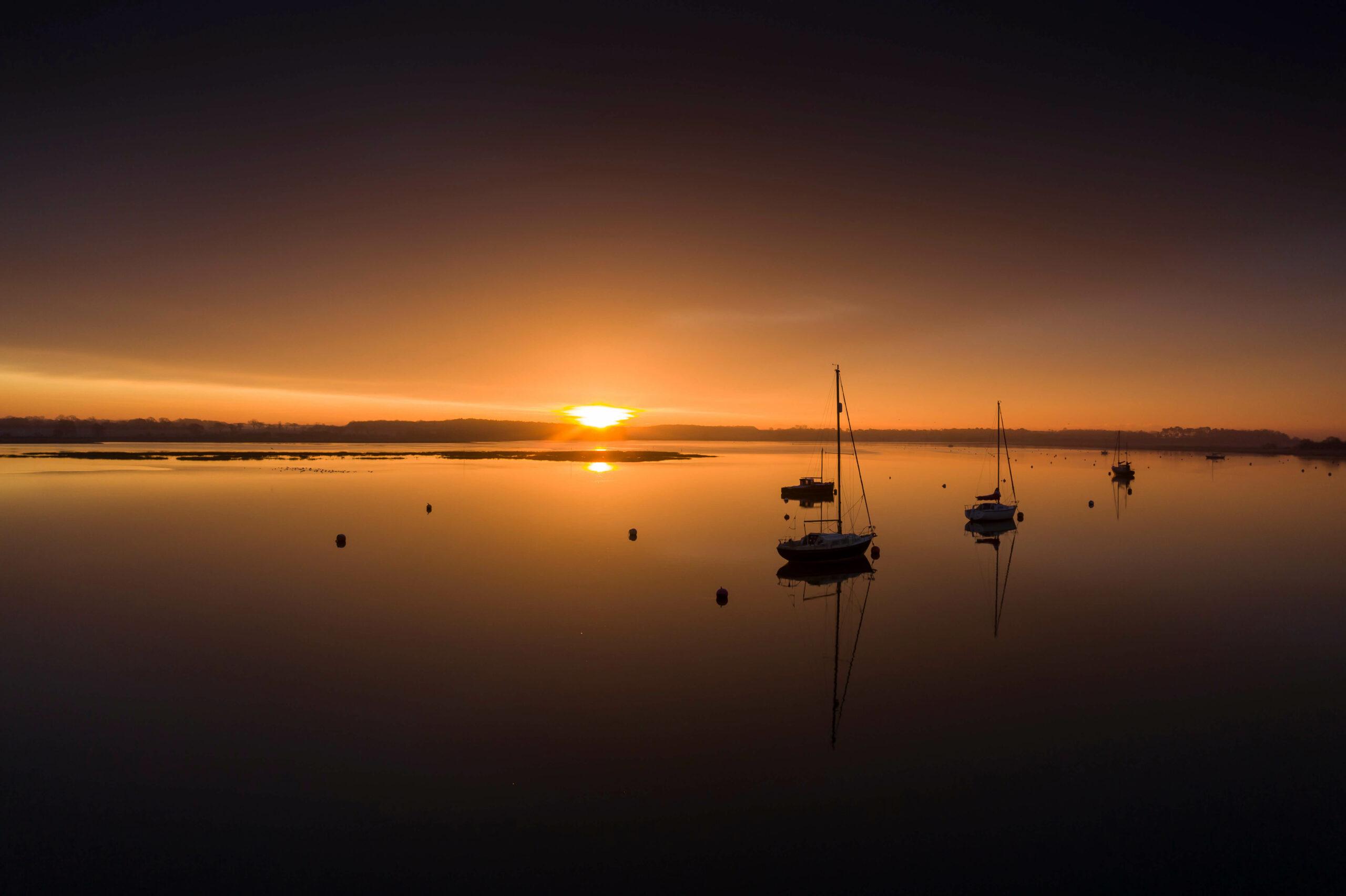 Dawn over River Deben at Waldringfield